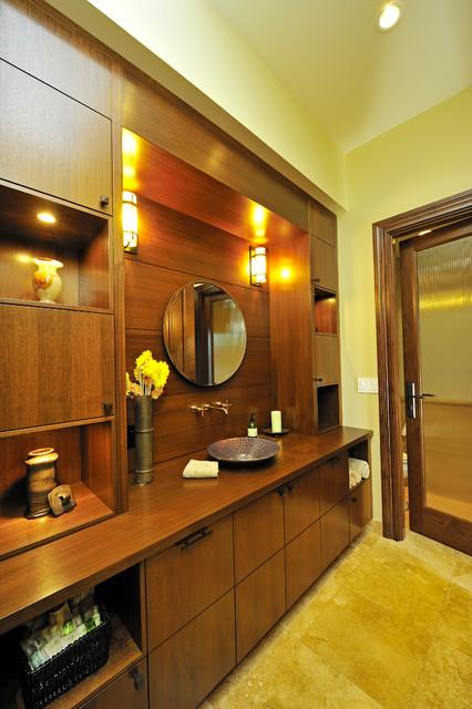 Powder room - modern powder room idea in Vancouver