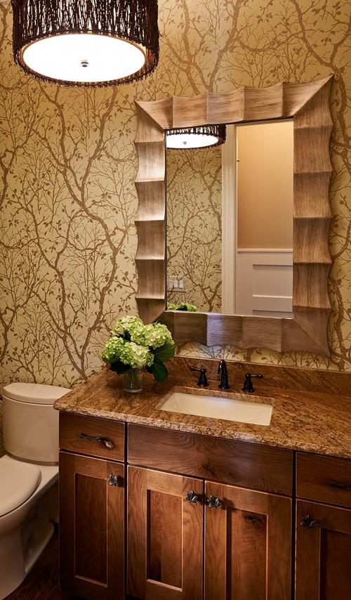 洗面所の壁紙施工事例