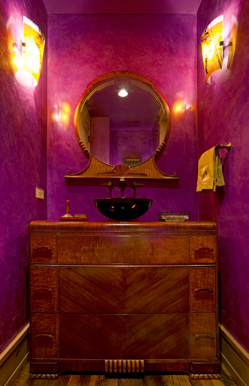 Fun and bold small bathroom