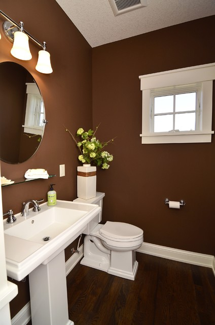 Chanhassen Cottage New Construction traditional powder room