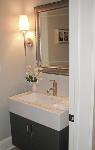 Chanhassen New Home contemporary powder room