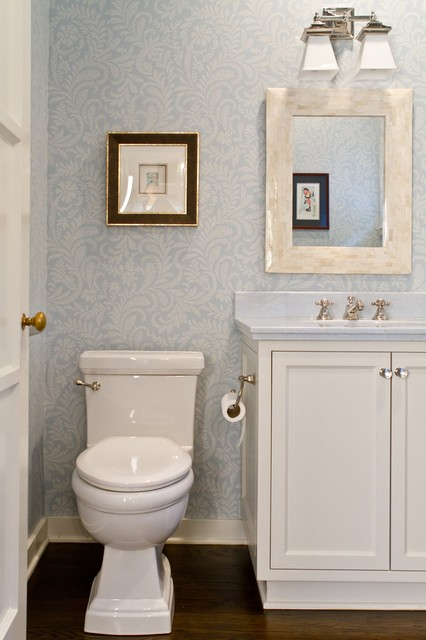 Charmean Neithart Interiors, LLC. traditional powder room