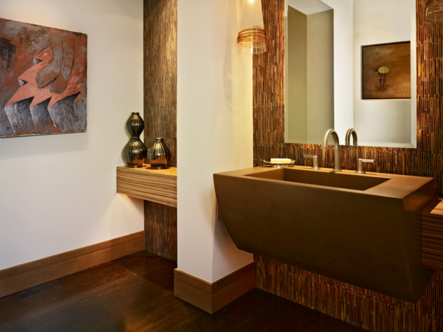 Cherry Hills Western Eclectic Rustic Powder Room