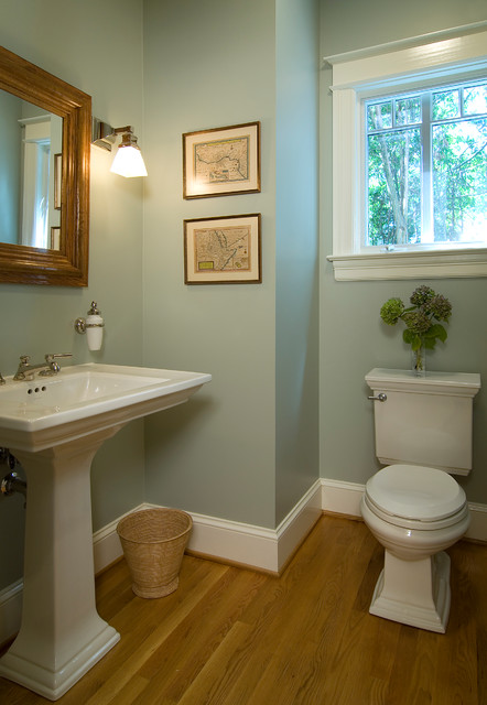 Chevy Chase Bungalow Traditional Powder Room Dc Metro By Anthony Wilder Design Build Inc