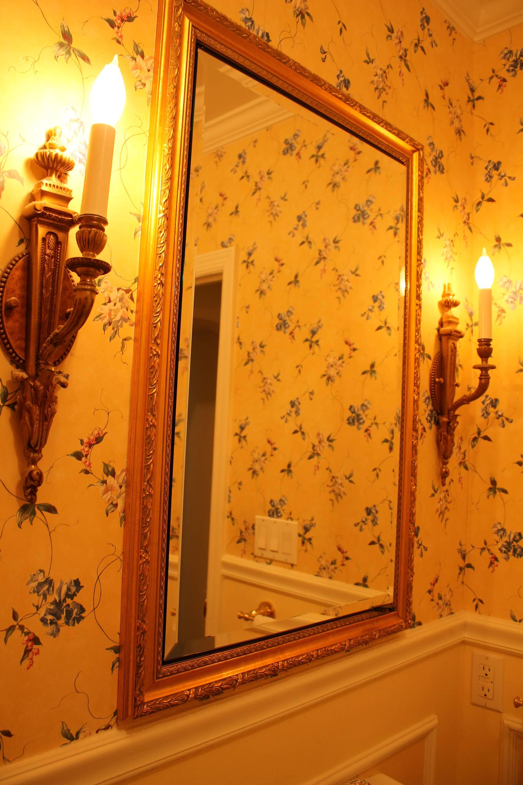 Chic Powder Room Lawrence, NY Home