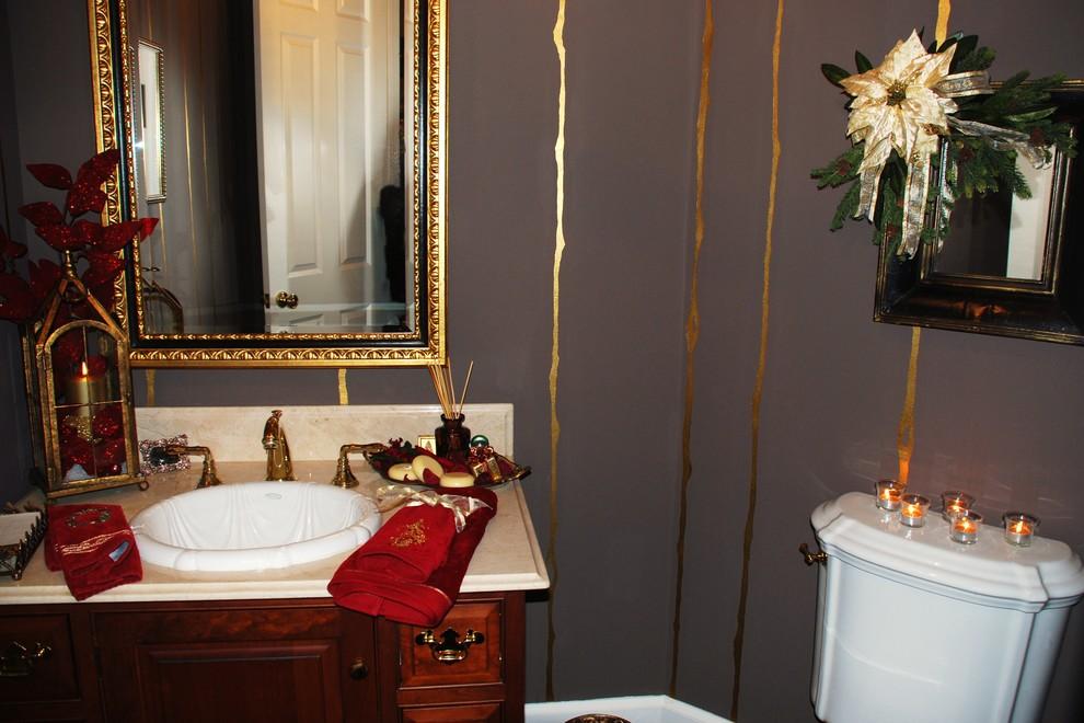 Elegant powder room photo in Portland