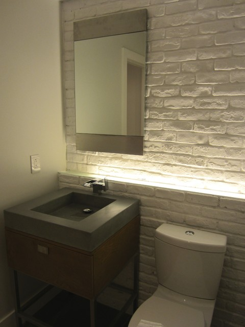 Church Loft Modern Powder Room Other Metro By