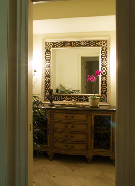 Cigar & Wine Room traditional-powder-room