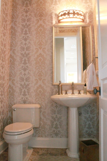 Classic and elegant Rockwall Home traditional-powder-room