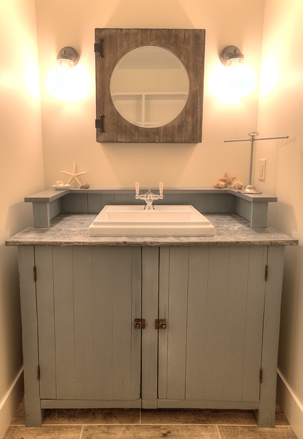 Classic Cottage Beach Style Powder Room Other Metro