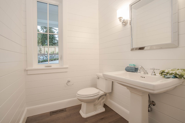 Clyde Hill Modern Farm House Farmhouse Powder Room