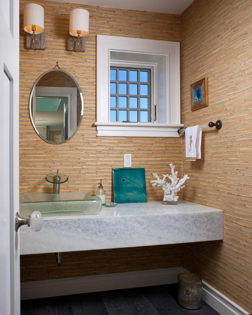 Coastal House Powder Room Beach Style Powder Room