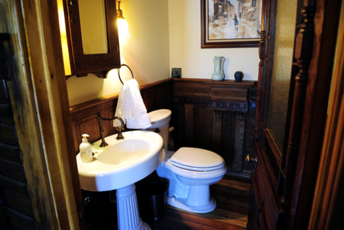 colonial powder room traditional powder room