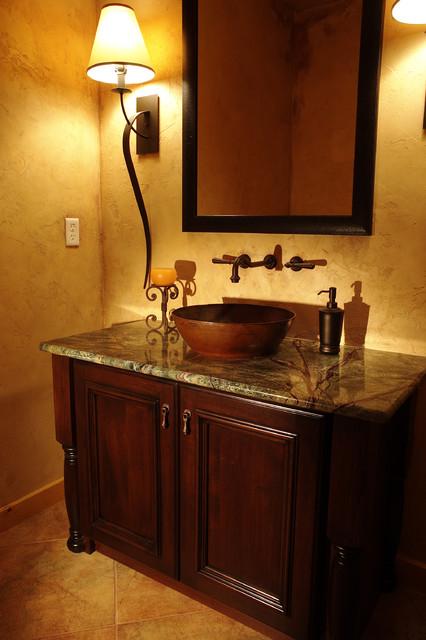 Colorado Mountain House traditional-powder-room