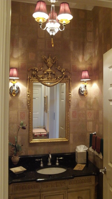 Condo in assisted living complex traditional-powder-room