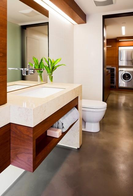 Condo Renovation 1 contemporary-powder-room