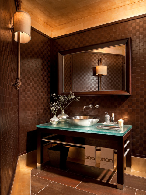 Contemporary Gem Contemporary Powder Room New York