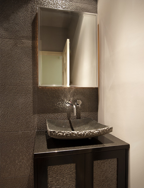Contemporary Powder Room Contemporary Powder Room Baltimore By DK Int