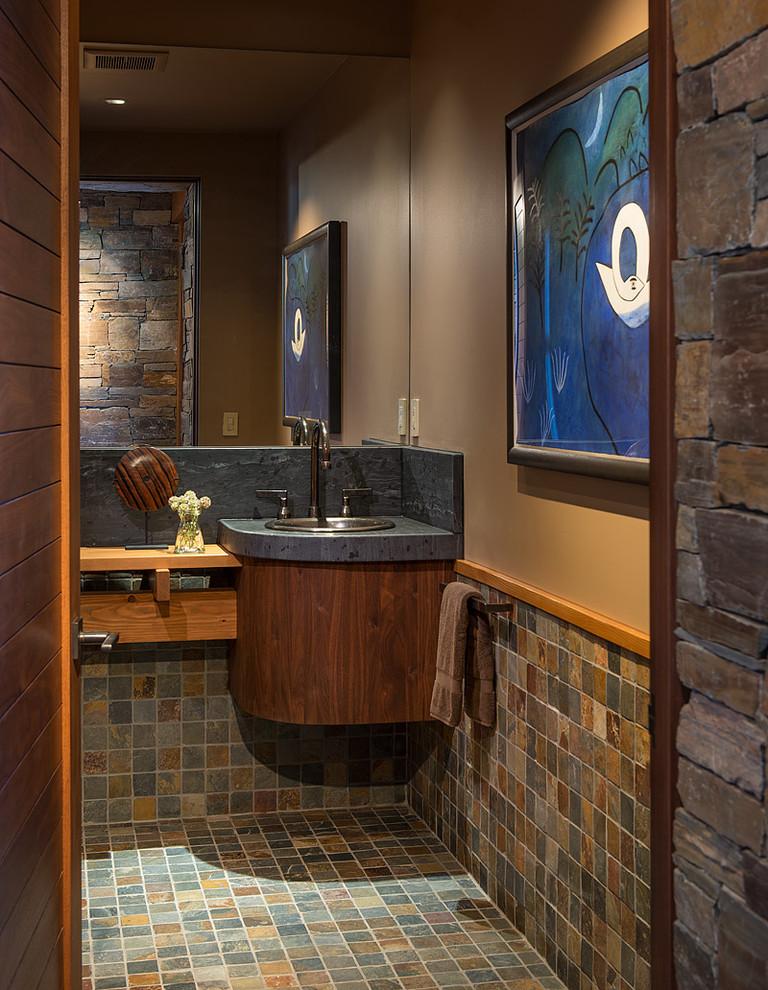 Contemporary Powder Room Contemporary Powder Room Seattle