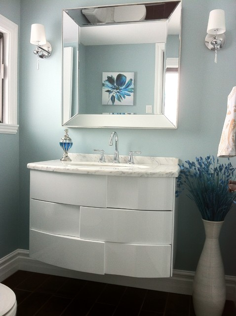 Powder room after contemporary-powder-room