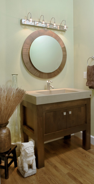 Allen Residence - Whole Home Design and Remodel contemporary-powder-room