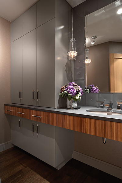 Modern Masterpiece Powder Room contemporary powder room