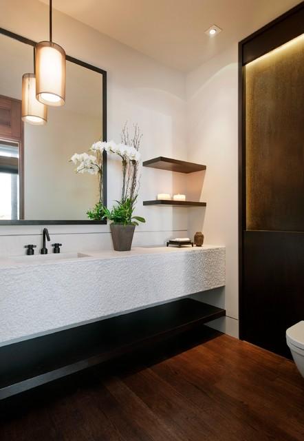 Newport Beach Residence Contemporary Powder Room
