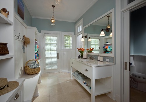 Mudroom powder room winning combo for Bathroom mudroom combo