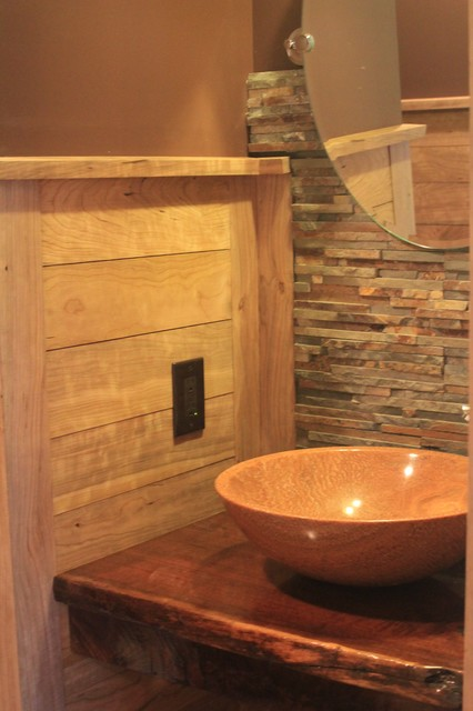 Country home in the Mountains rustic-powder-room