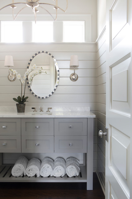 Crabapple Interior Renovation Beach Style Powder Room