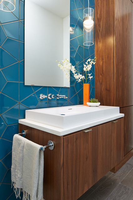 Crocus Hill Shingle Style Contemporary Powder Room Minneapolis By Charlie Co Design Ltd