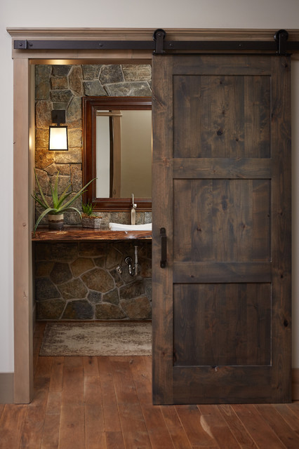 Crooked River Home - Rustic - Powder Room - Grand Rapids - by Villa ...