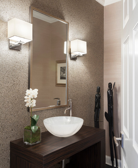 CT RESIDENCE Modern Powder Room New York By Susan Glick Interiors