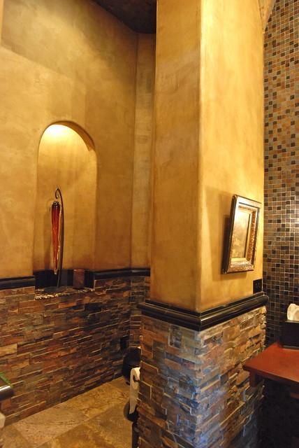 Custom Homes traditional-powder-room