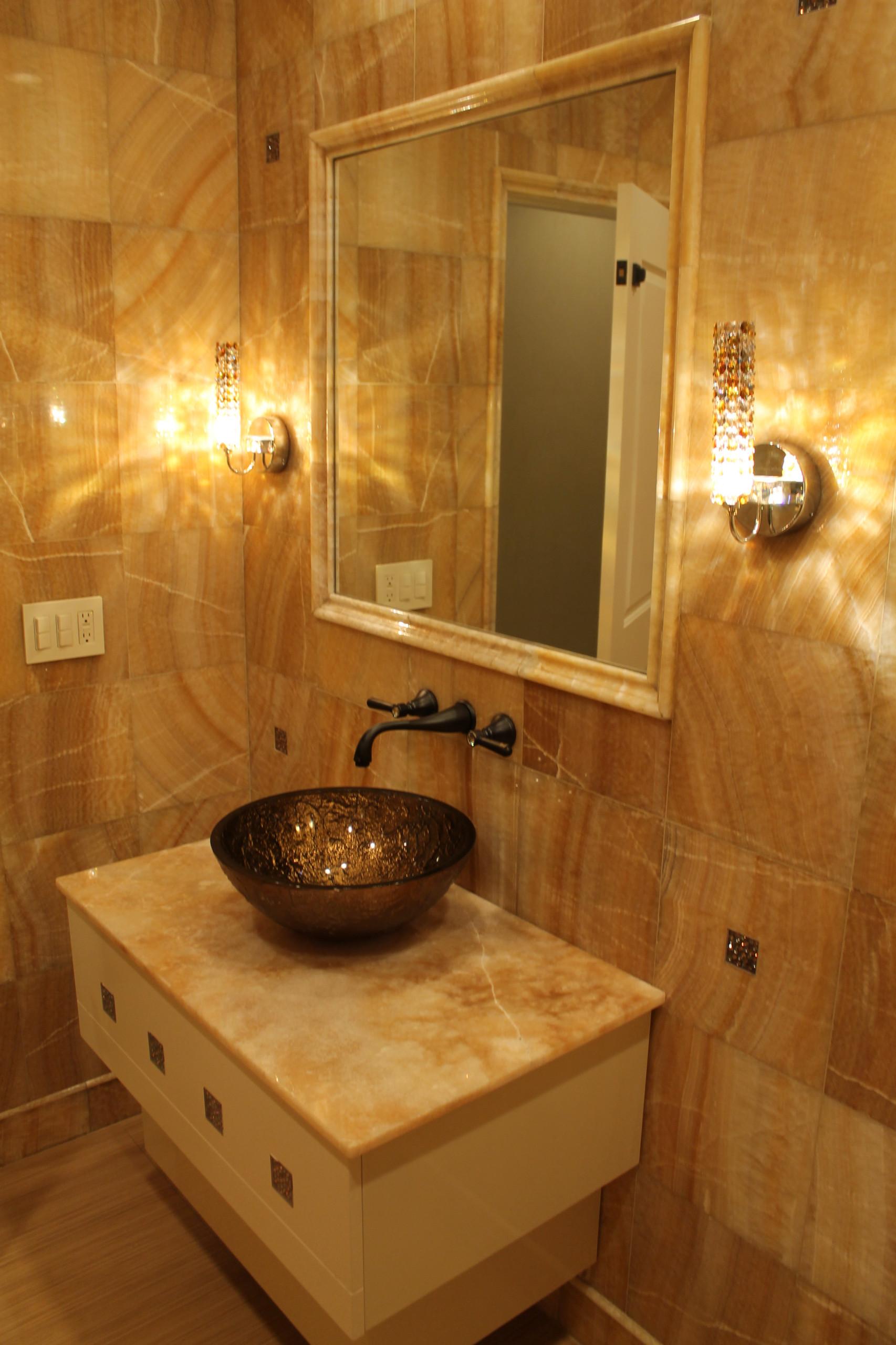 Custom Powder Room Woodmere, NY Home
