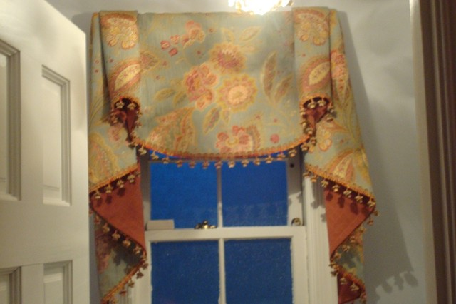 Custom Window Treatments Traditional Powder Room