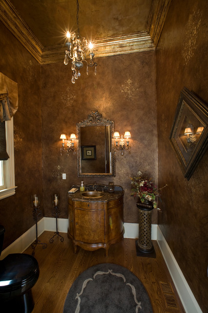 Decorative Painting & Fine Faux Finishing victorian-powder-room