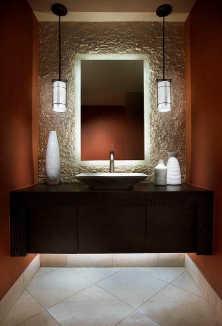 Desert contemporary - Contemporary - Powder Room - Phoenix ...