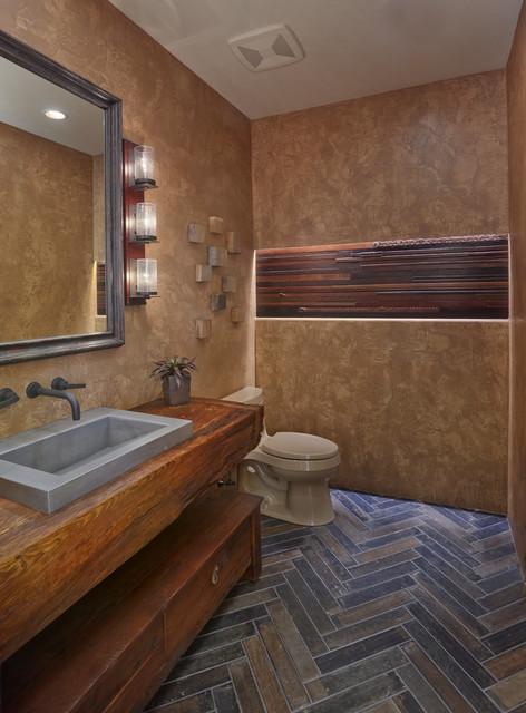 Desert Modern Rustic Southwestern Powder Room