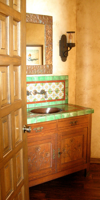 Design Decor Spanish Colonial Powder Room
