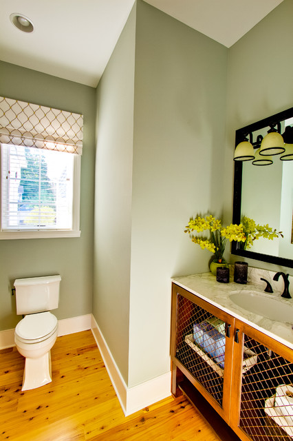 Downtown Zionsville traditional-powder-room