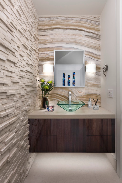 New Construction, On the Lake, Westlake Village, CA contemporary-powder-room
