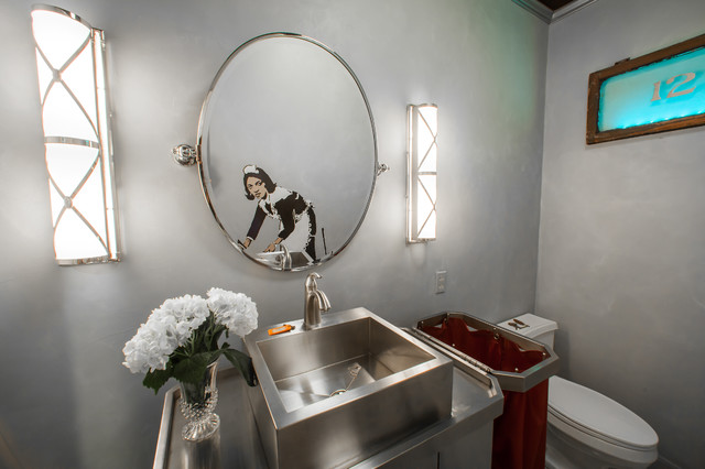 Dramatic Eclectic Facelift - Eclectic - Powder Room - Houston - by ...