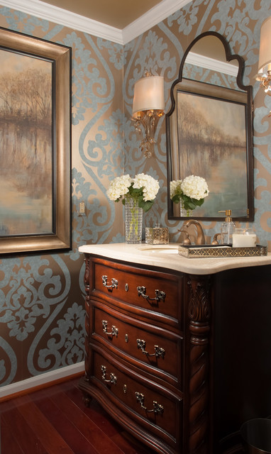 Dream room 2014 traditional powder room baltimore for Houzz corporate office