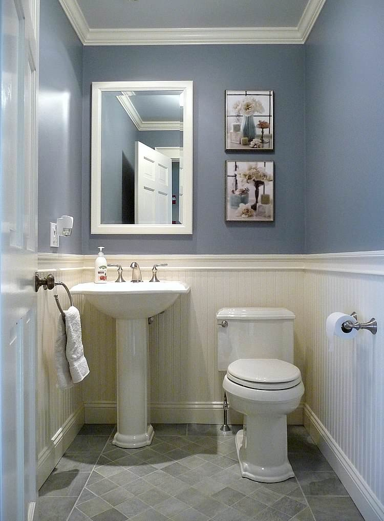 75 Beautiful Powder Room With A Pedestal Sink Pictures Ideas April 2021 Houzz