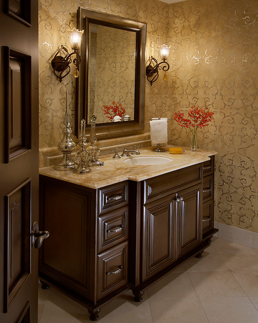Eagle luxury powder for Powder room bathroom ideas