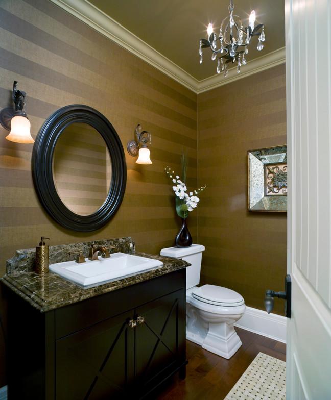 Powder room - traditional powder room idea in Vancouver