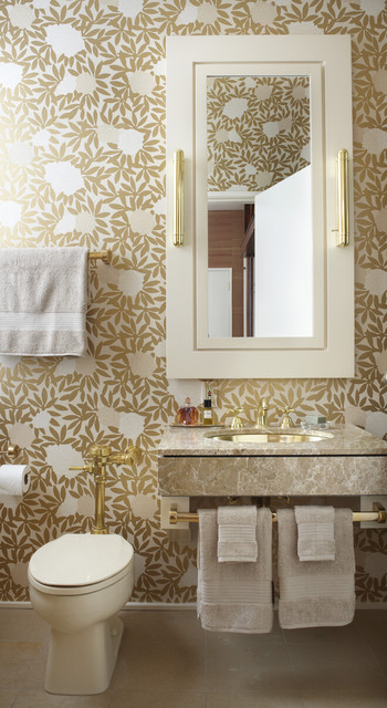 Lakefront Residence eclectic-powder-room
