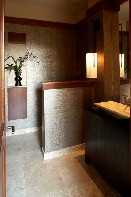 East Meets West - POwder asian powder room