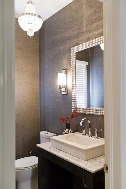 Eclectic Modern Powder Room Contemporary Powder Room